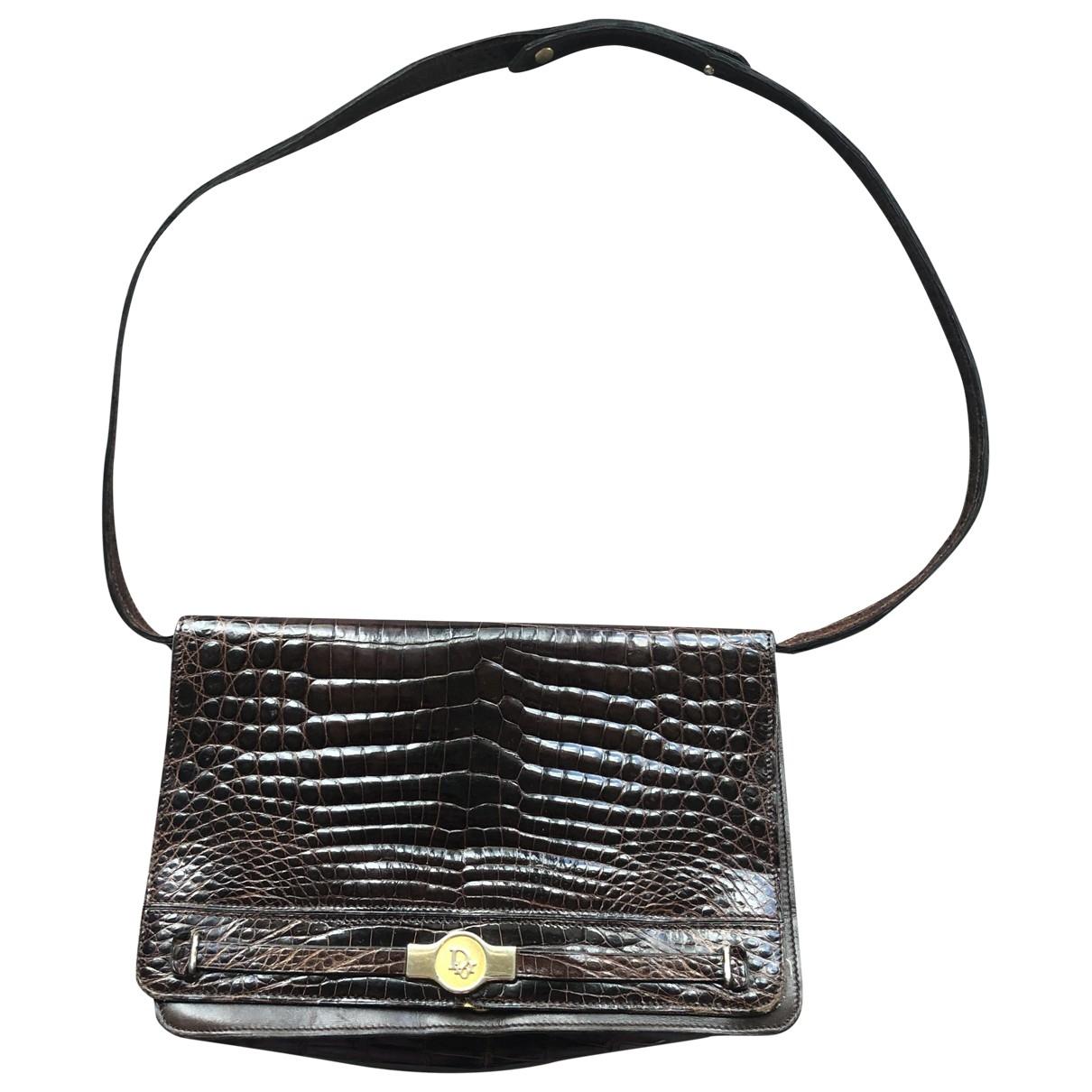 Dior \N Handtasche in  Braun Krokodil