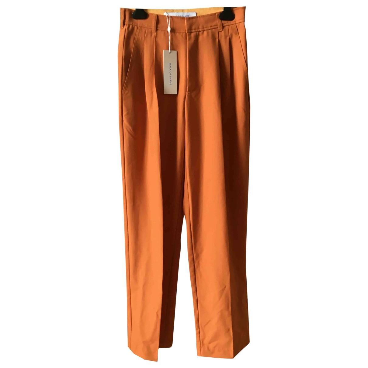 Walk Of Shame \N Orange Wool Trousers for Women 38 FR