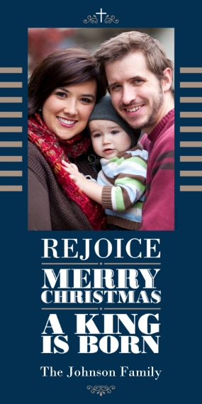 Religious Christmas Cards Flat Glossy Photo Paper Cards with Envelopes, 4x8, Card & Stationery -Modern Christmas Religious