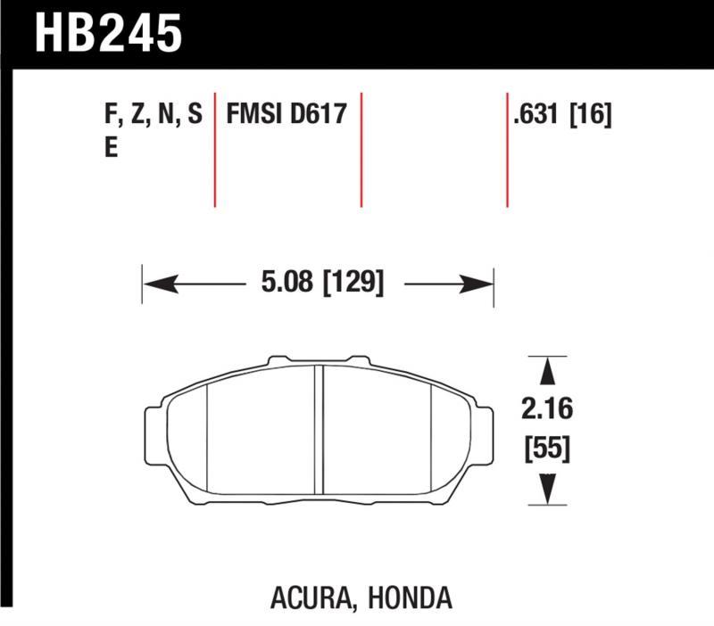 Hawk Performance HB245E.631 Disc Brake Pad Front