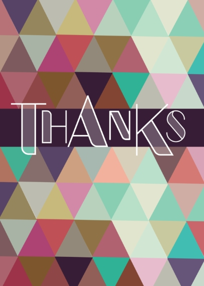Thank You Cards 5x7 Cards, Premium Cardstock 120lb with Rounded Corners, Card & Stationery -Pattern Thank You