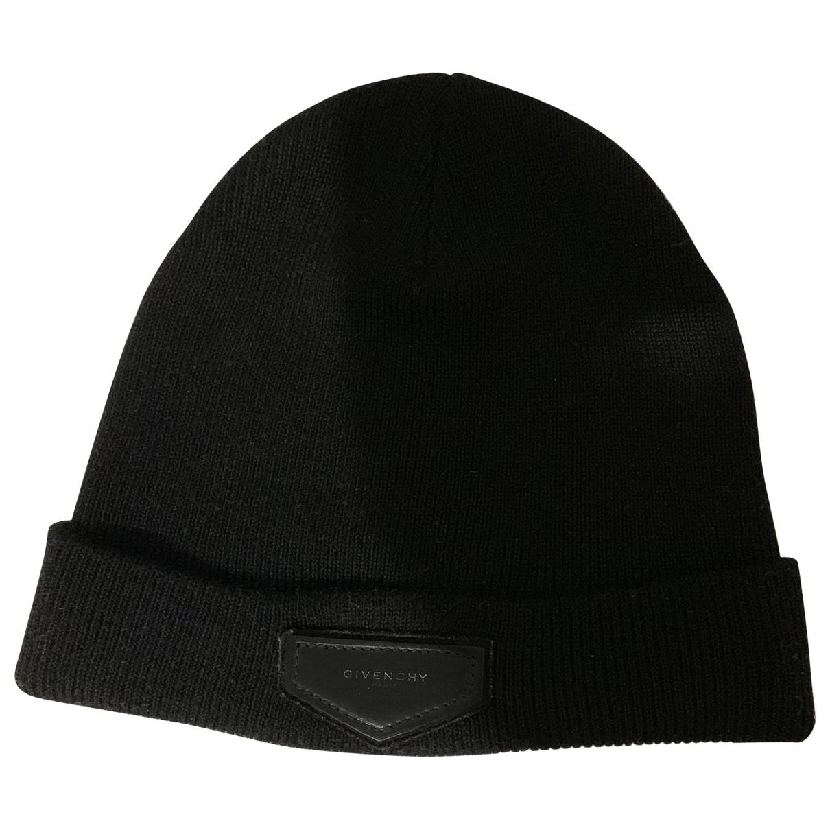 Givenchy - Chapeau & Bonnets   pour homme en laine - noir