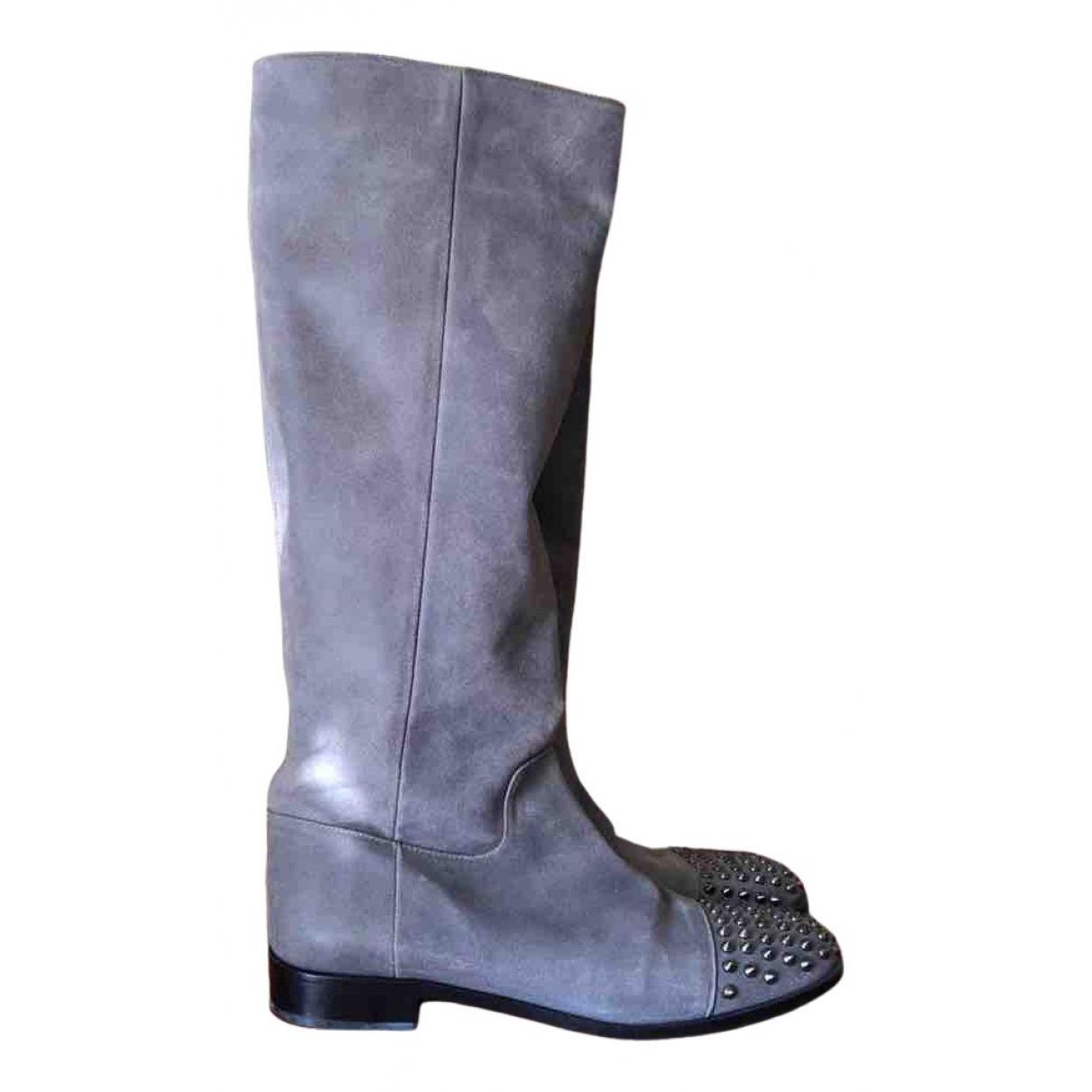 Patrizia Pepe \N Stiefel in  Grau Leder