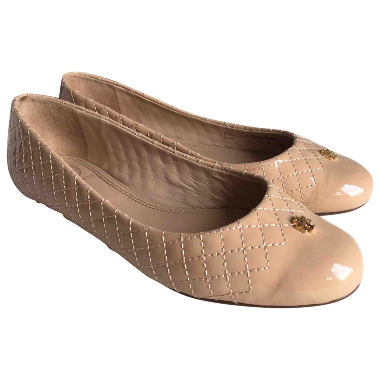 Tory Burch \N Beige Patent leather Ballet flats for Women 38 EU
