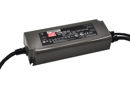 Mean Well PWM-90 AC, DC-DC Constant Voltage LED Driver 90W 24V