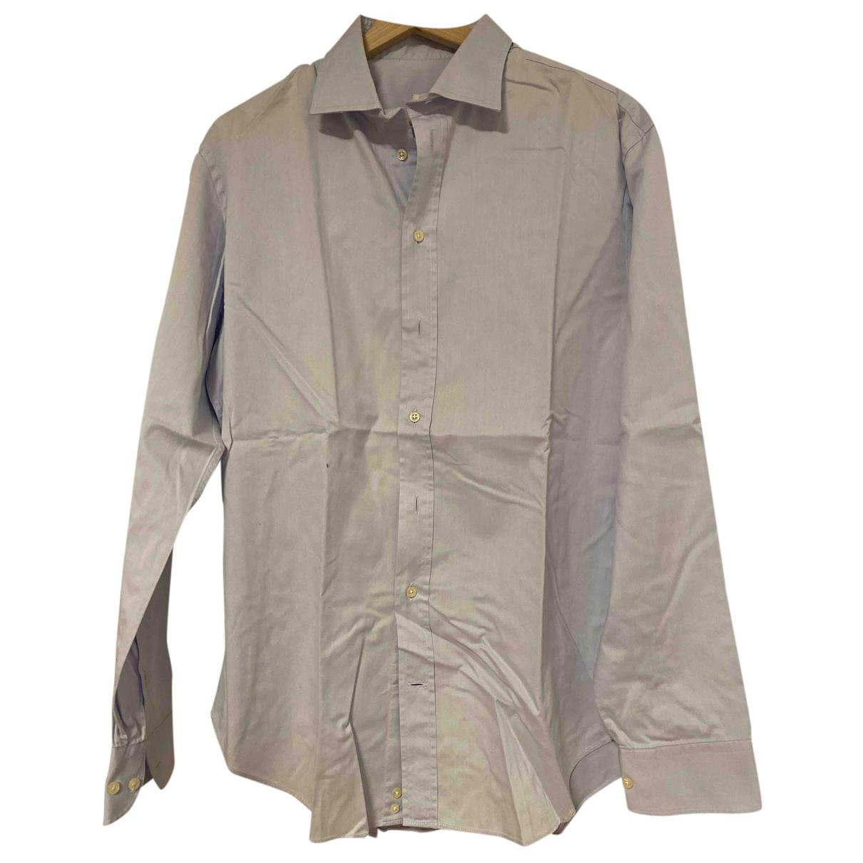 Armani Collezioni - Chemises   pour homme en coton - bleu