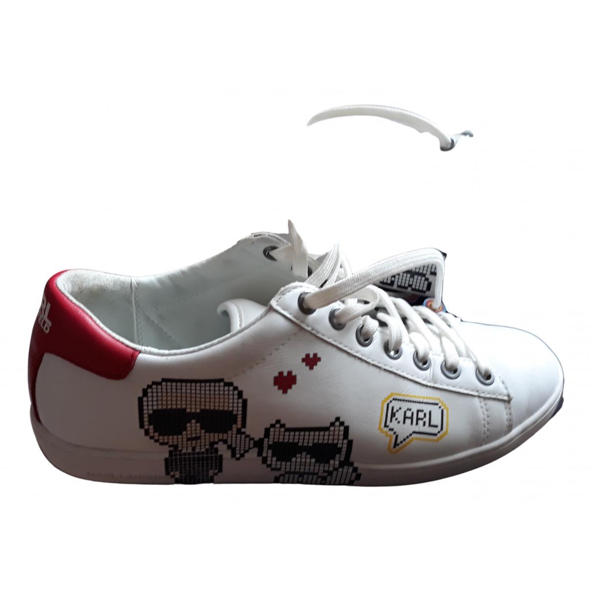 Karl \N Sneakers in  Weiss Leder