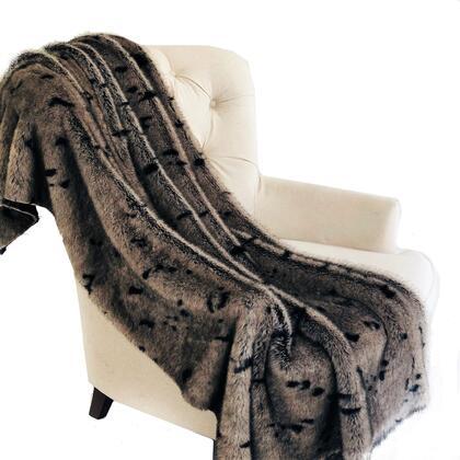 Gray Collection PBSF1502-108x90T 108L x 90W Full - Queen Gunmetal Tones Tissavel Faux Fur Luxury
