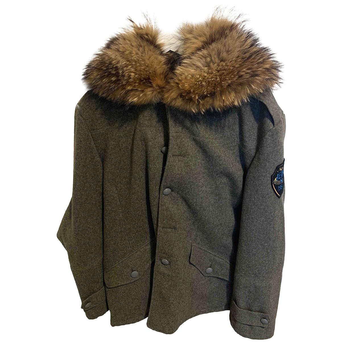 Napapijri - Manteau   pour homme en laine - gris