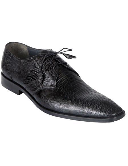 Genuine Black Teju Lizard Oxfords Dress Los Altos Shoe For Men