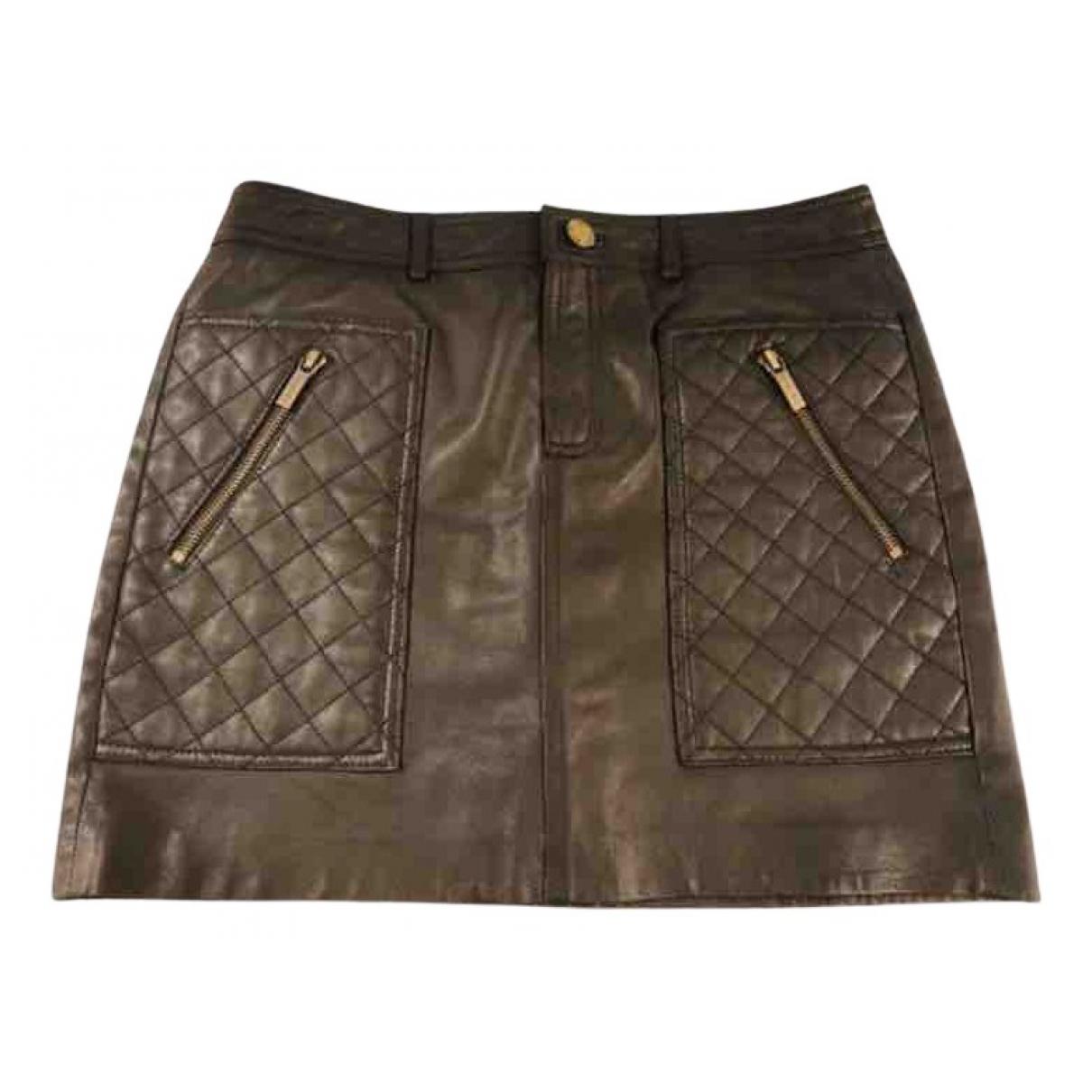 Mini falda de Cuero Michael Kors