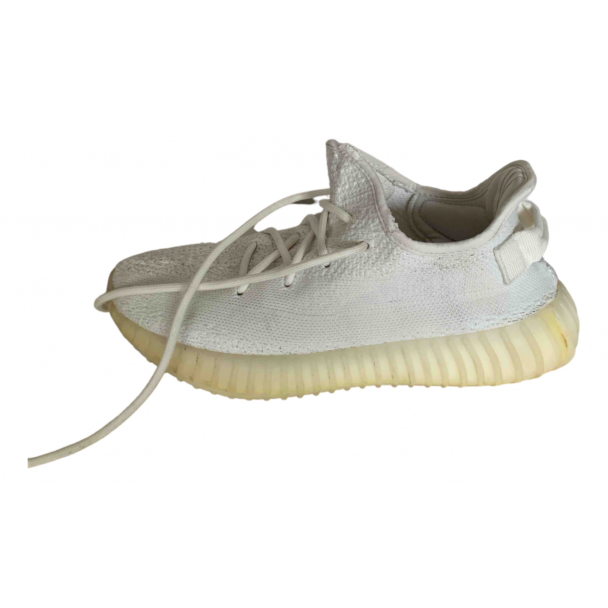 Yeezy X Adidas Boost 350 V2 White Cloth Trainers for Men 7.5 US