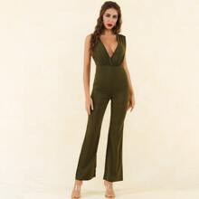 Lucra Zip Back Plunging Neck Jumpsuit