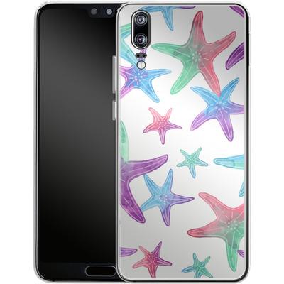 Huawei P20 Silikon Handyhuelle - Starfish Print von Becky Starsmore