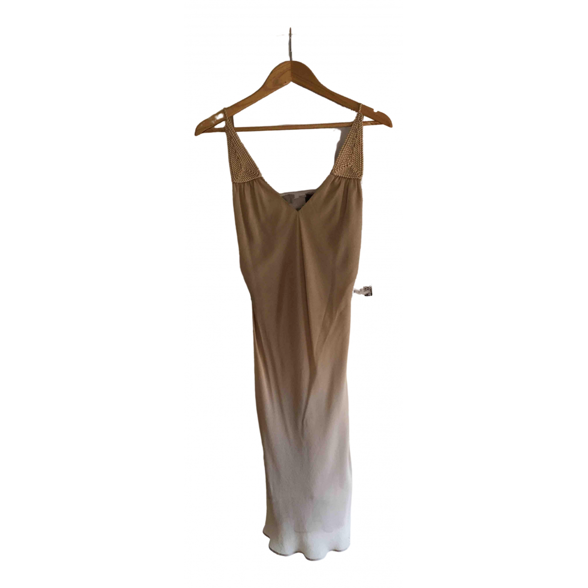 Angel Schlesser \N Kleid in  Beige Viskose