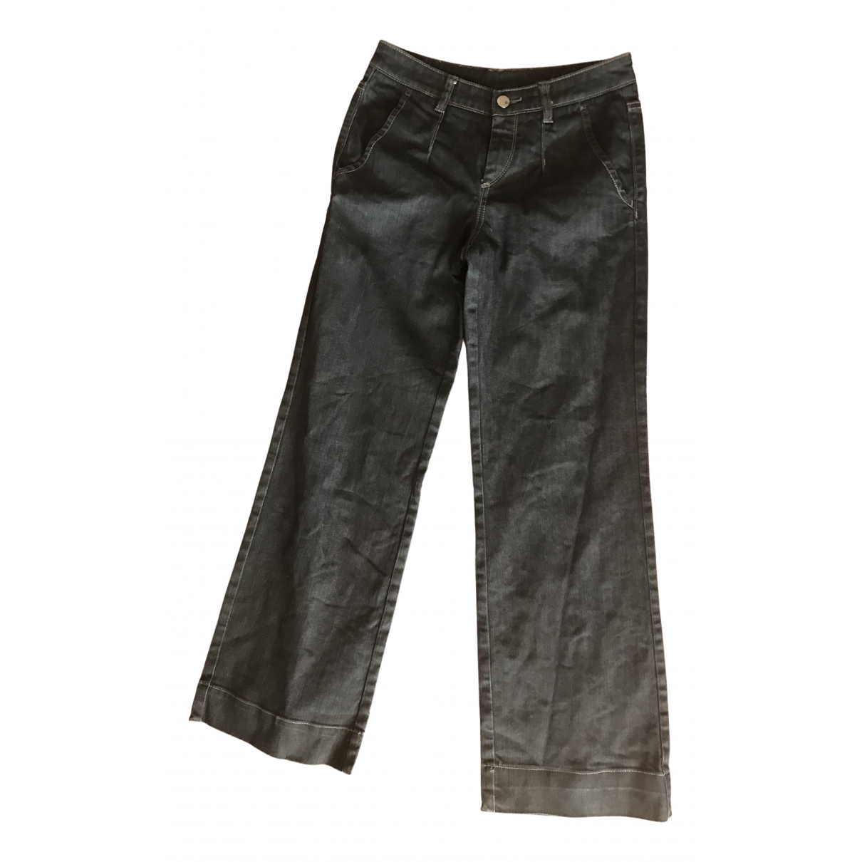 Boss \N Blue Cotton Trousers for Women M International