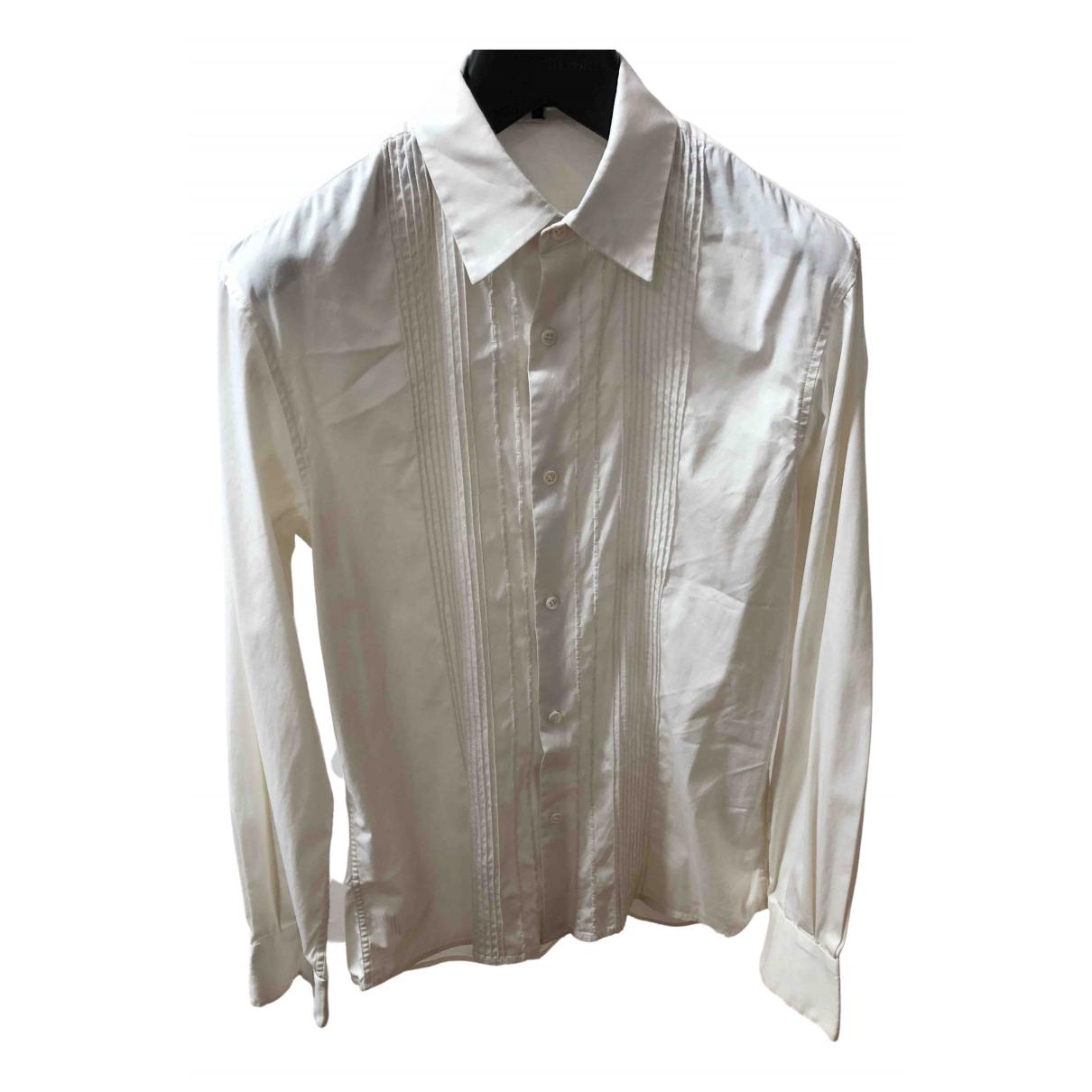 Theory - Chemises   pour homme en lin - blanc