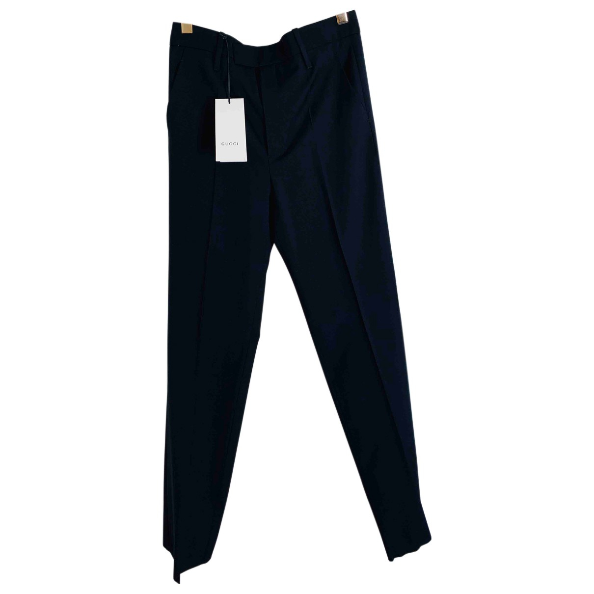 Gucci N Black Wool Trousers for Women 38 IT