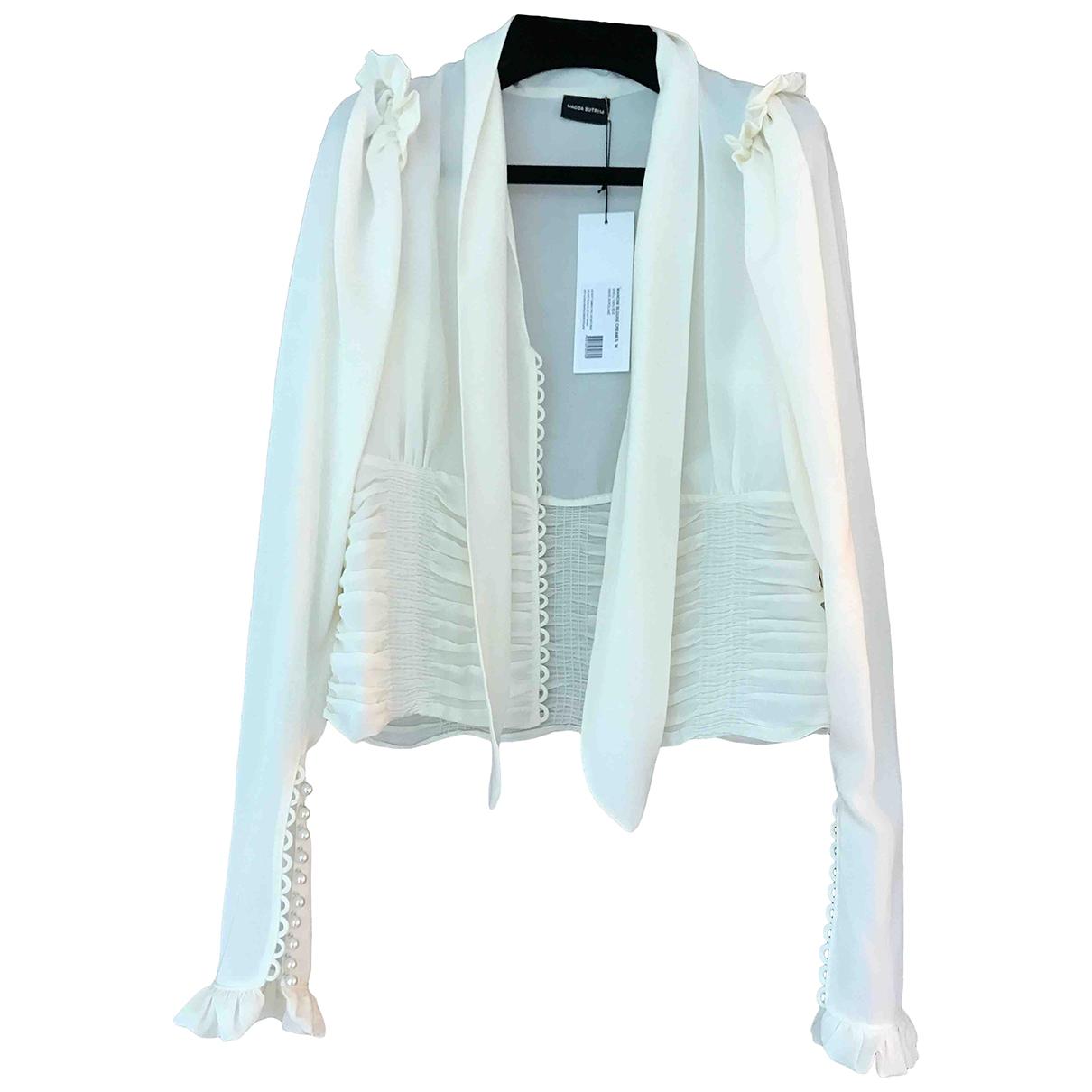 Magda Butrym - Top   pour femme en soie - blanc
