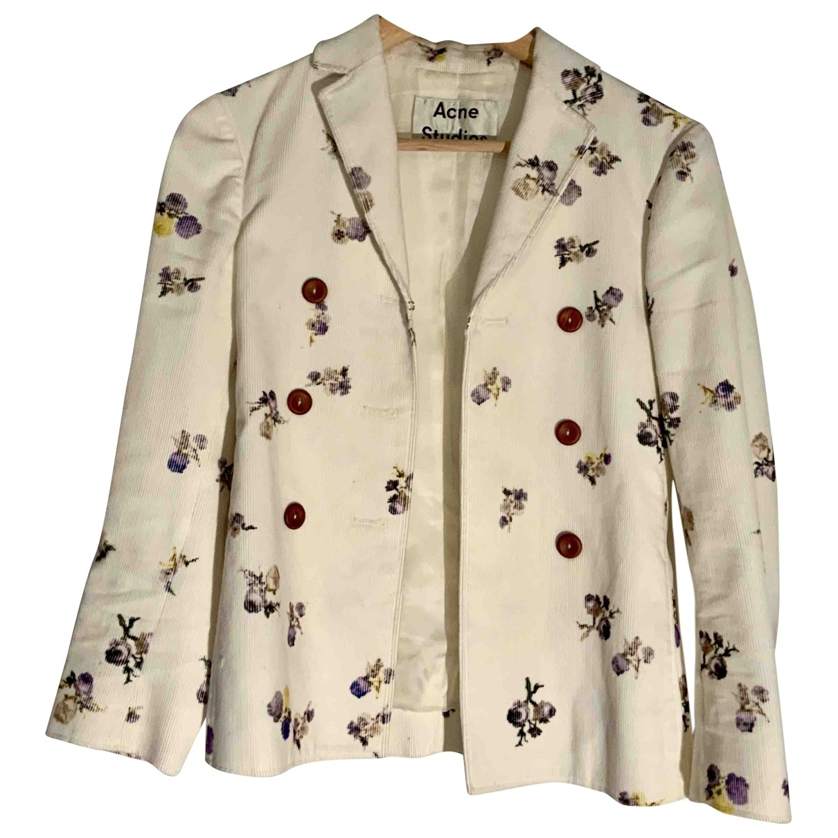 Acne Studios - Veste   pour femme en coton - blanc