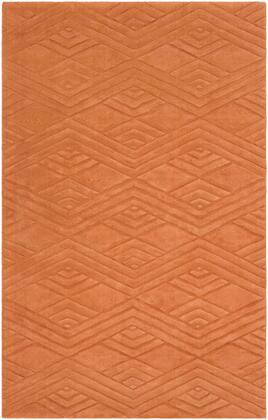 Etching ETC-5002 2' x 3' Rectangle Modern Rug in Burnt