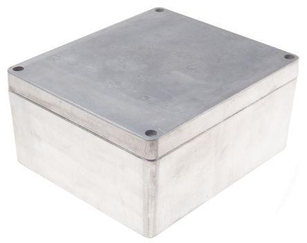 RS PRO Unpainted Die Cast Aluminium Enclosure, IP66, 230 x 200 x 110mm