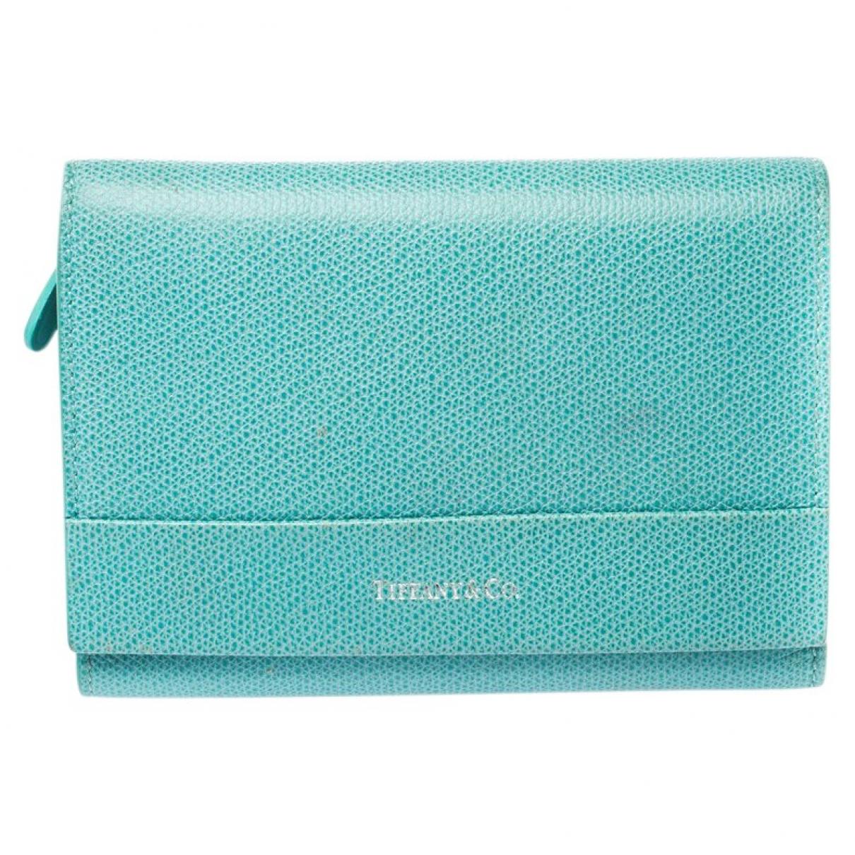 Tiffany & Co \N Portemonnaie in  Blau Leder