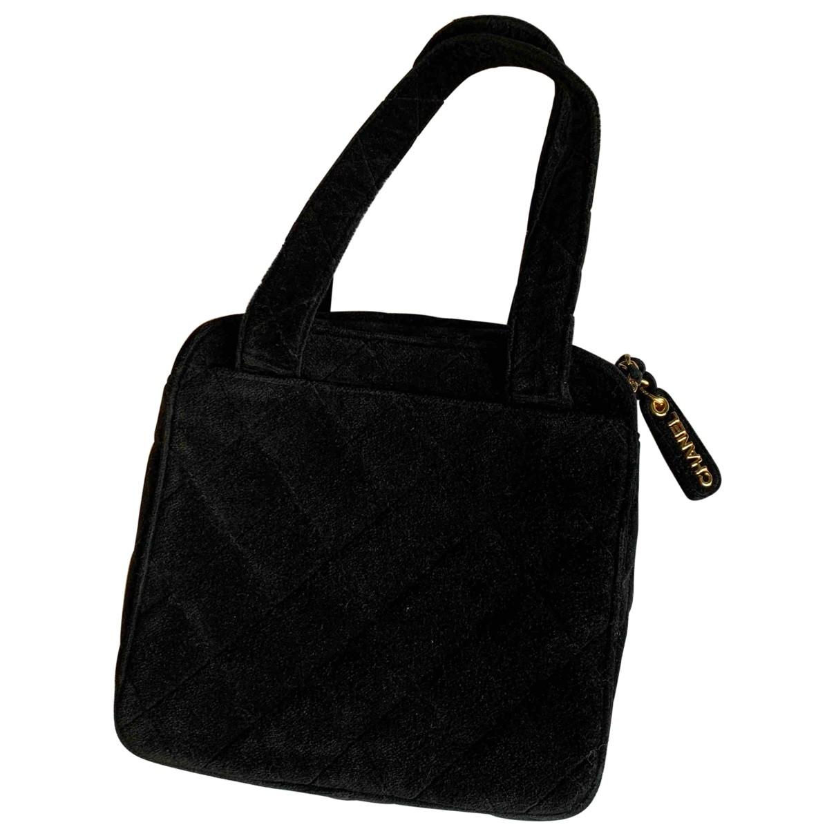 Chanel \N Handtasche in  Schwarz Samt