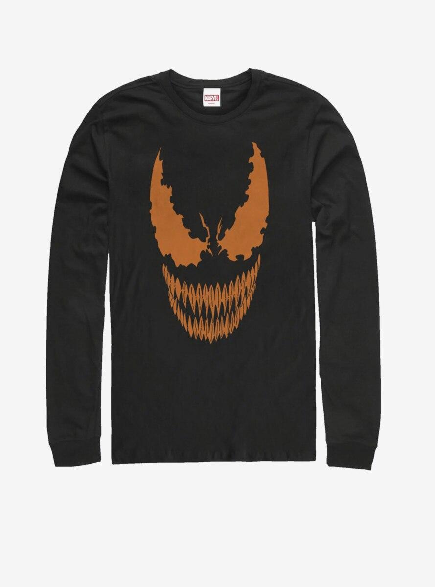 Marvel Venom Venom Face Pumpkin Long-Sleeve T-Shirt