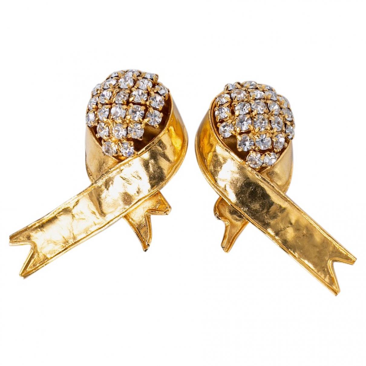 Valentino Garavani N Gold Metal Earrings for Women N
