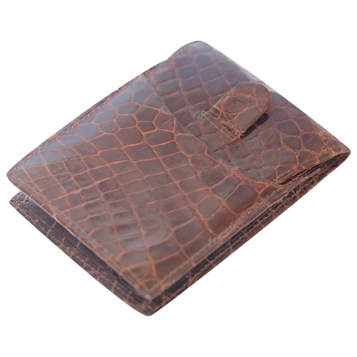Loewe - Petite maroquinerie   pour femme en cuir exotique - marron