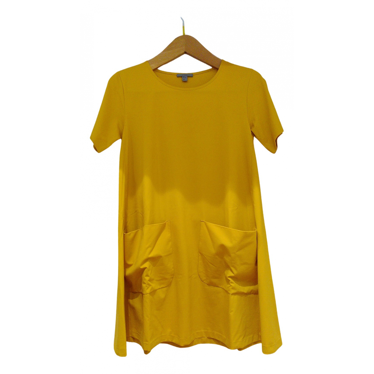 Cos N Yellow Cotton - elasthane dress for Women 36 FR