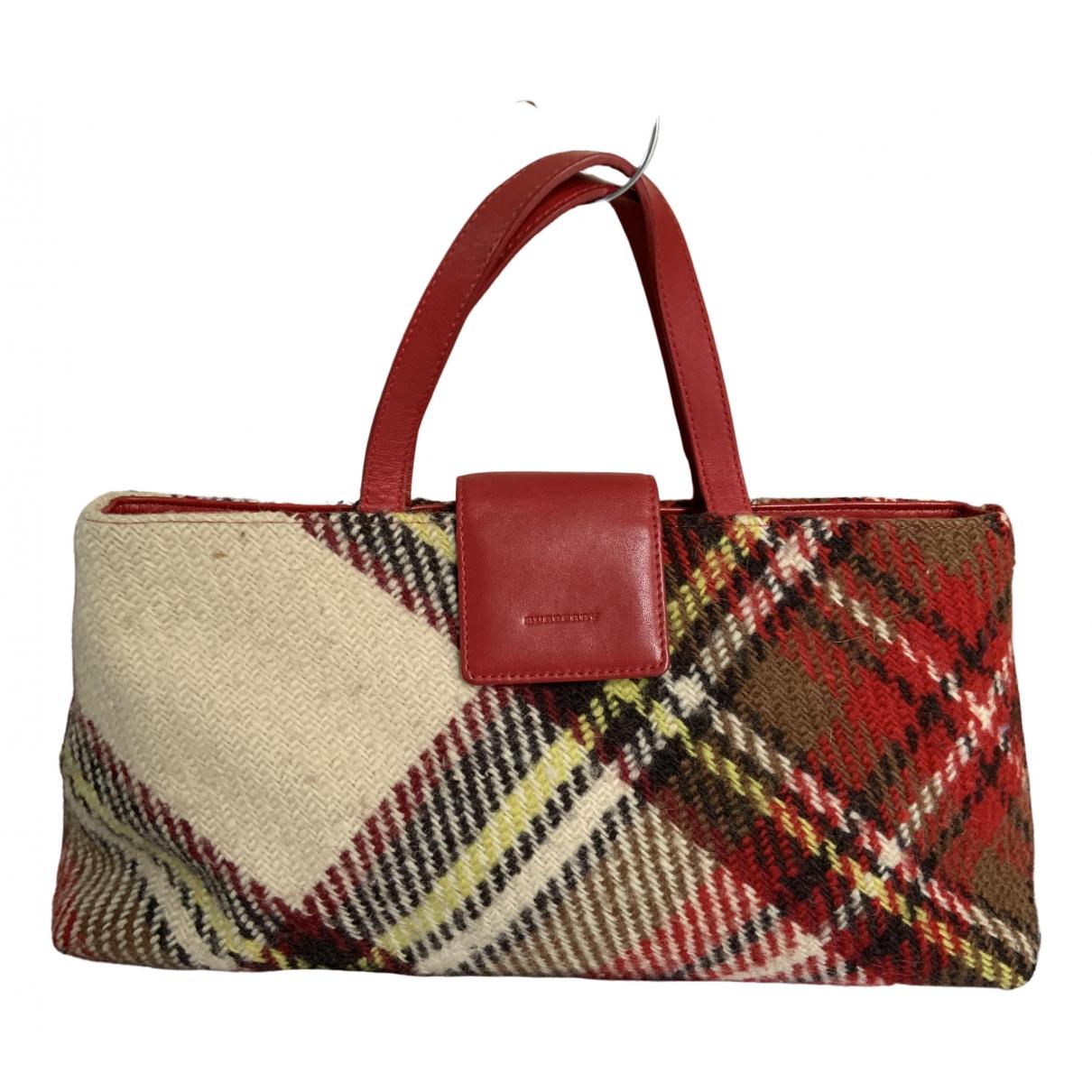 Burberry - Sac a main   pour femme en laine - bordeaux