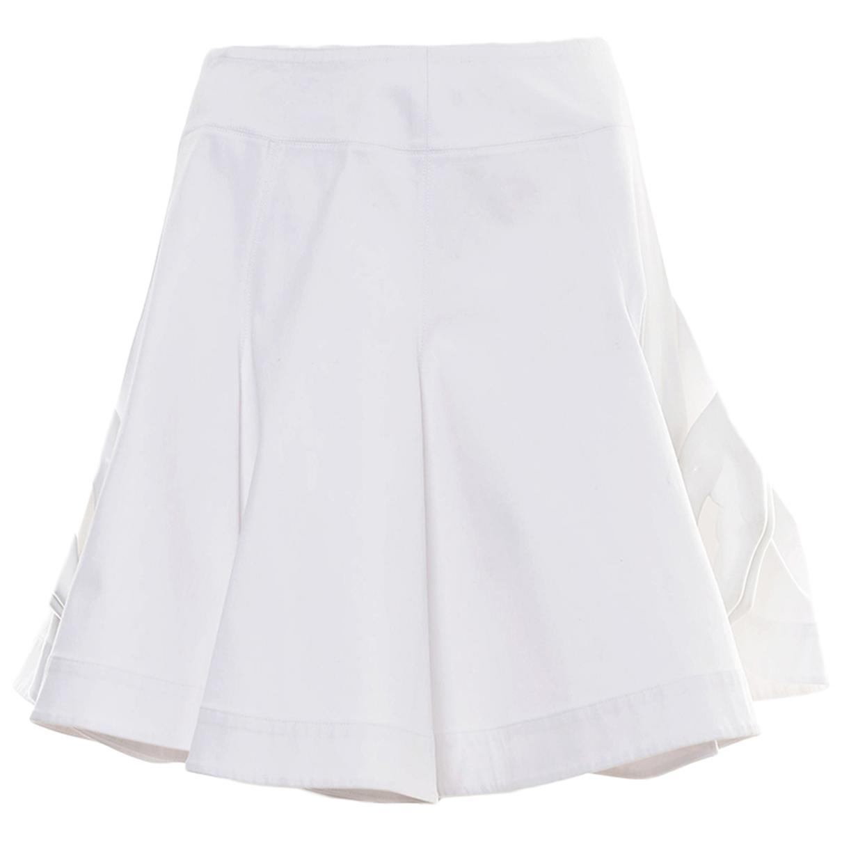Alaïa N White Cotton skirt for Women 40 FR