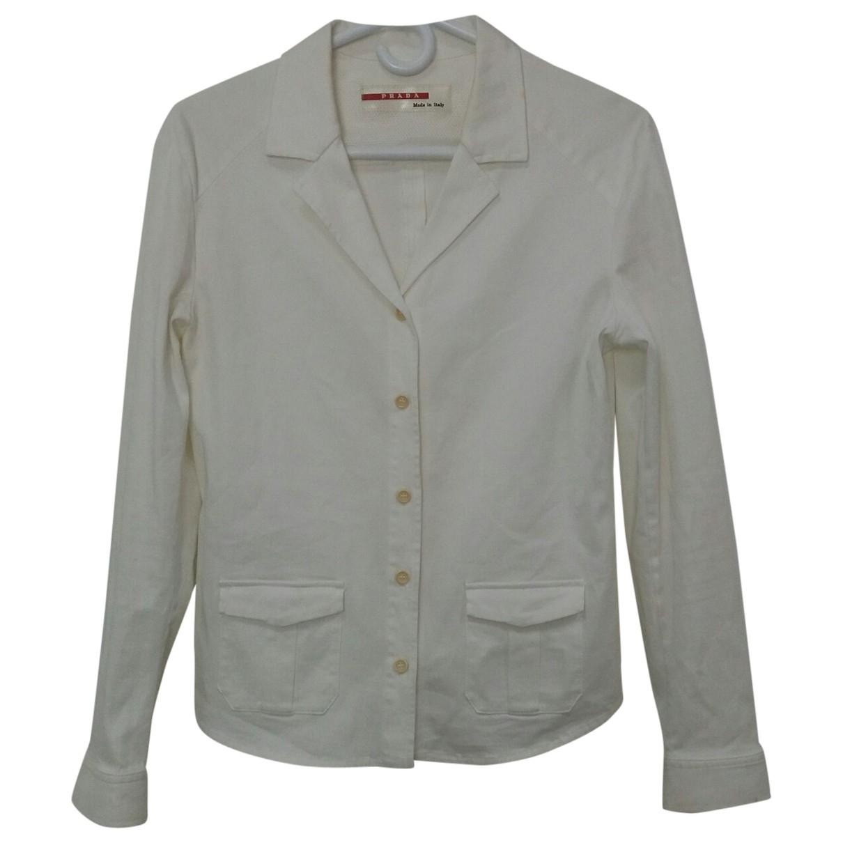 Prada \N White Cotton  top for Women 48 IT