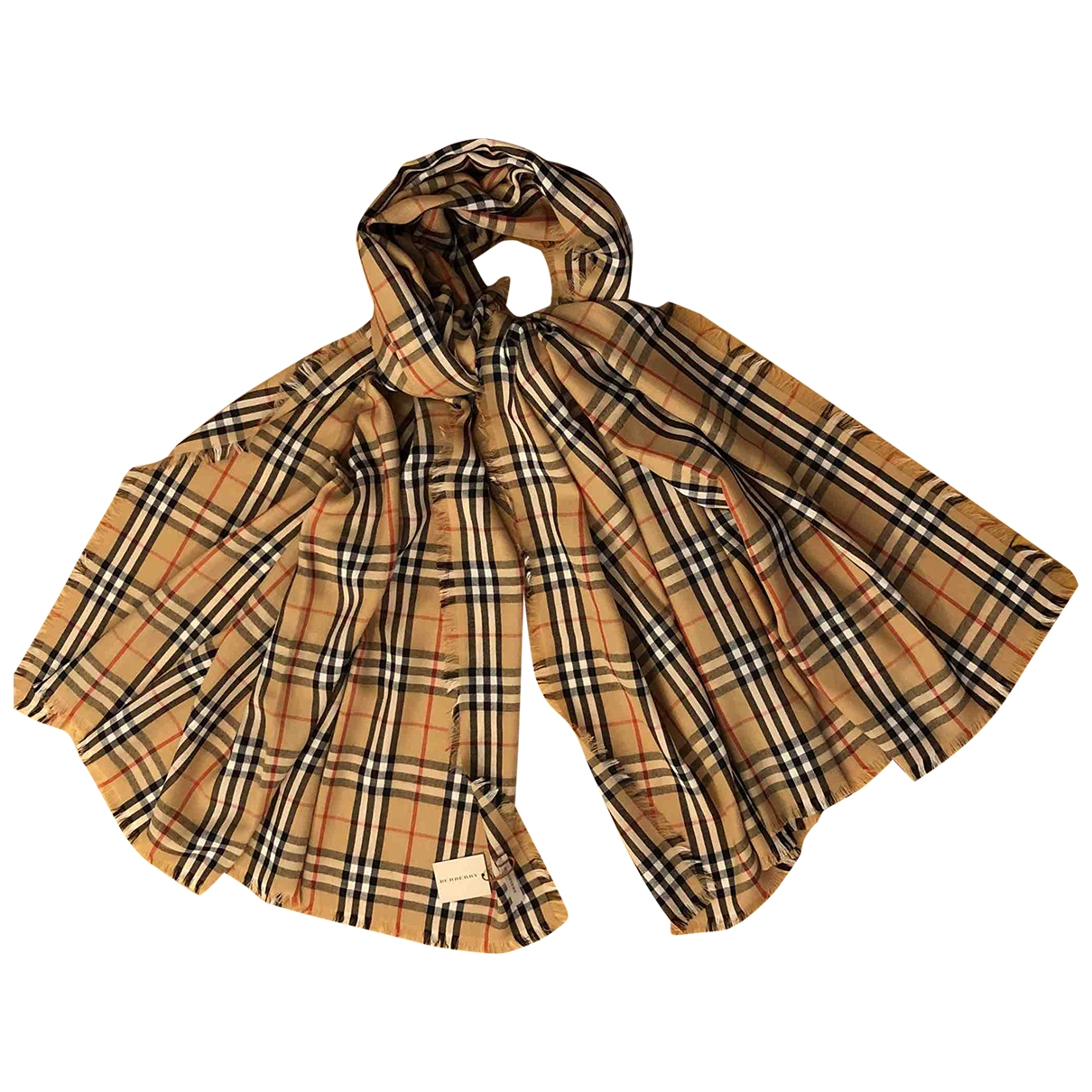 Burberry \N Camel Cashmere scarf for Women \N
