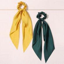 2 Stuecke Einfarbiger Schal