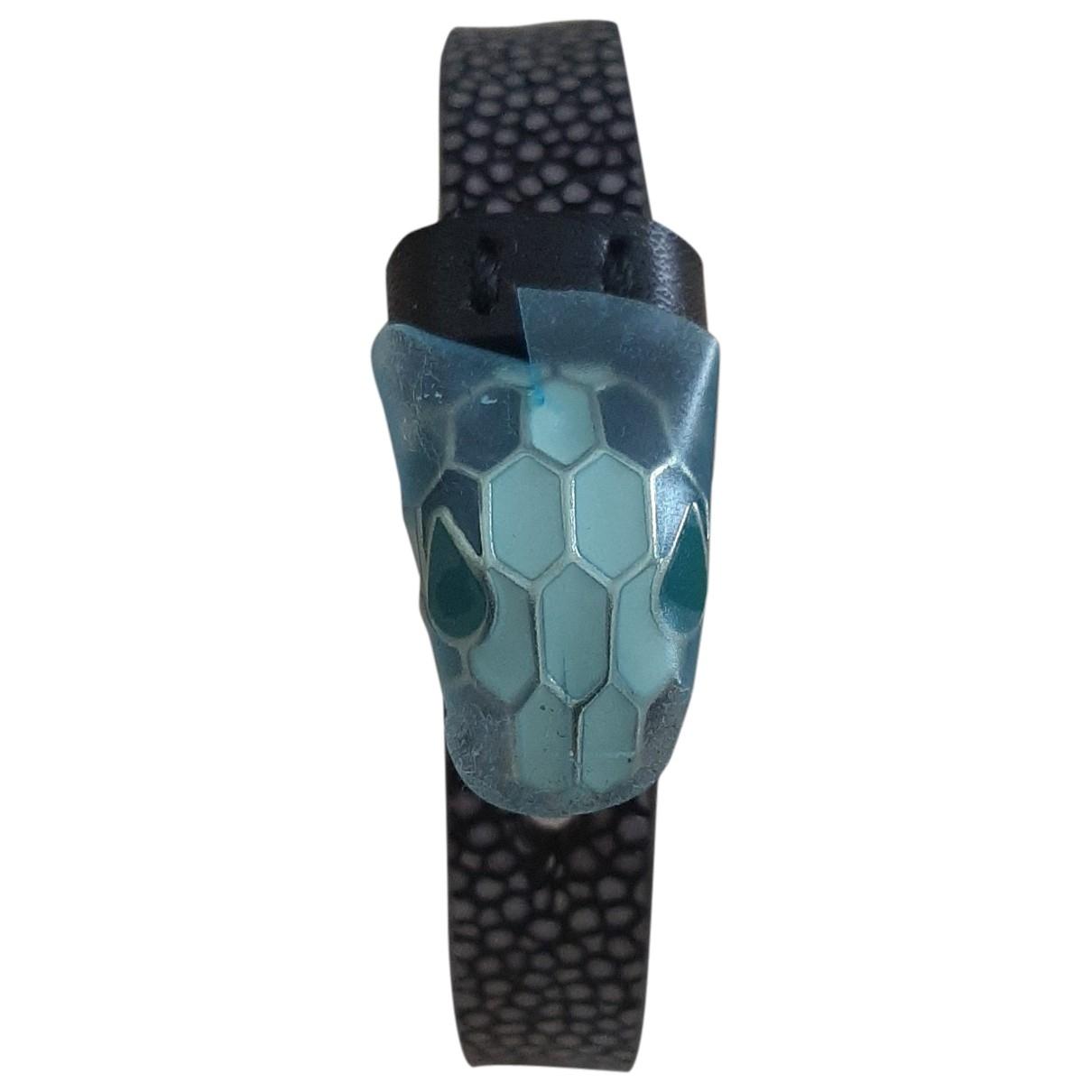 Bvlgari - Bracelet Serpenti pour femme en cuir - noir