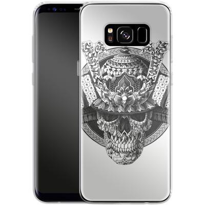 Samsung Galaxy S8 Silikon Handyhuelle - Samurai Skull von BIOWORKZ