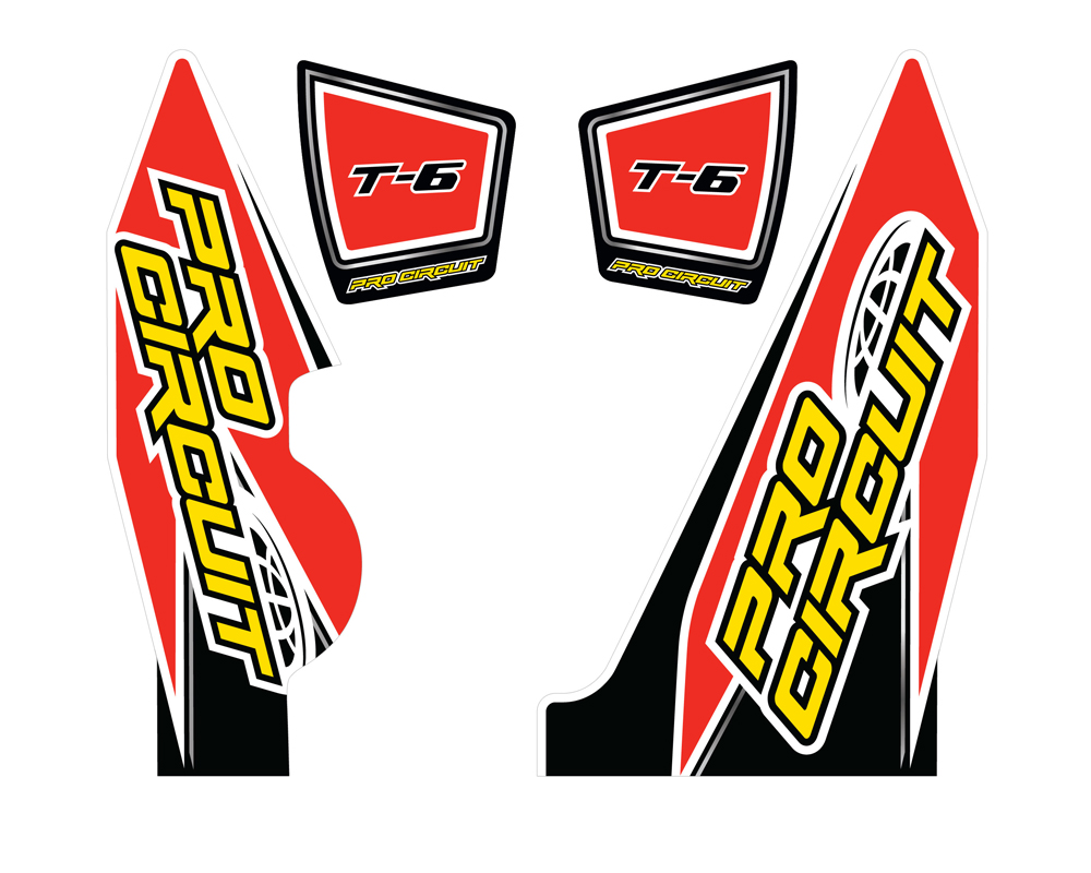 Pro Circuit DC14T6-YZ250F T-6 Wrap/End Cap Decals YZ250F Replacement Muffler Stickers DC14T6-YZ250F