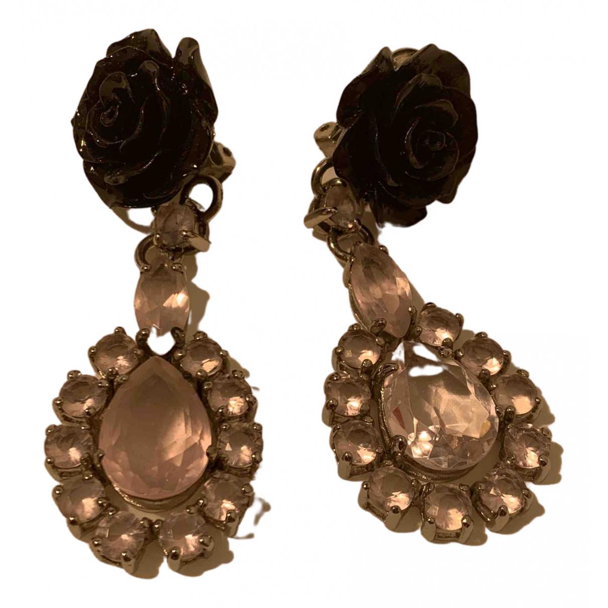 Prada - Boucles doreilles   pour femme en cristal - rose