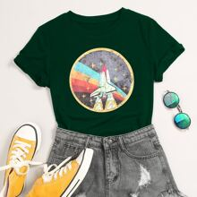Graphic Print Short Sleeve Tee