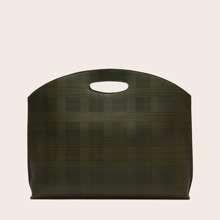 Grosse Kapazitaet Tasche mit Karo Muster