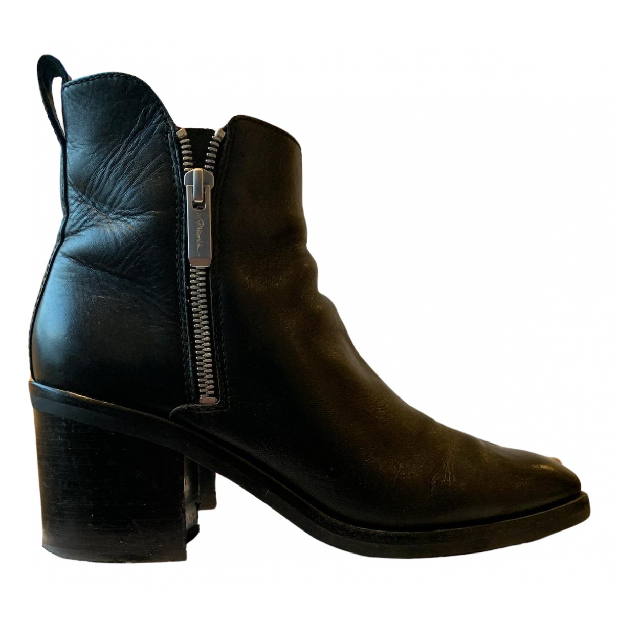 3.1 Phillip Lim \N Black Leather Ankle boots for Women 38 EU