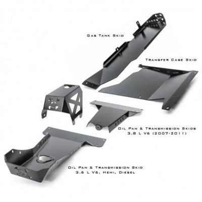 Hauk Offroad Complete Skid Plate System - ARM-6335-4DPC