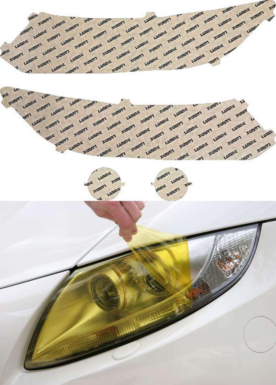 Honda Civic Sedan 13-15 Yellow Headlight Covers Lamin-X H048Y