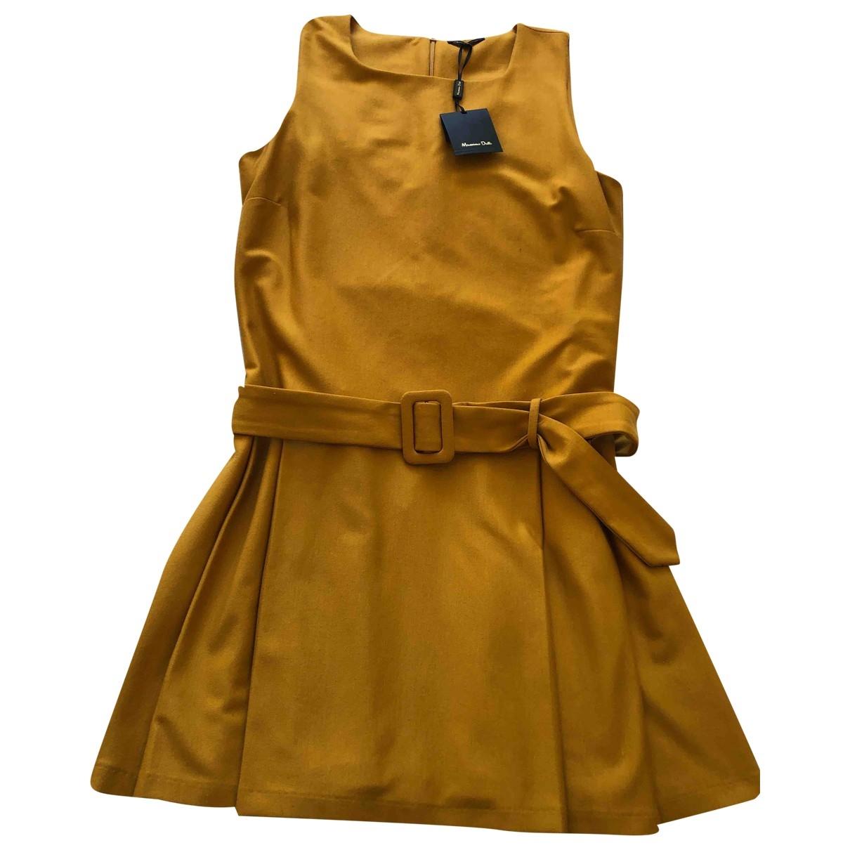 Massimo Dutti \N Kleid in  Orange Polyester