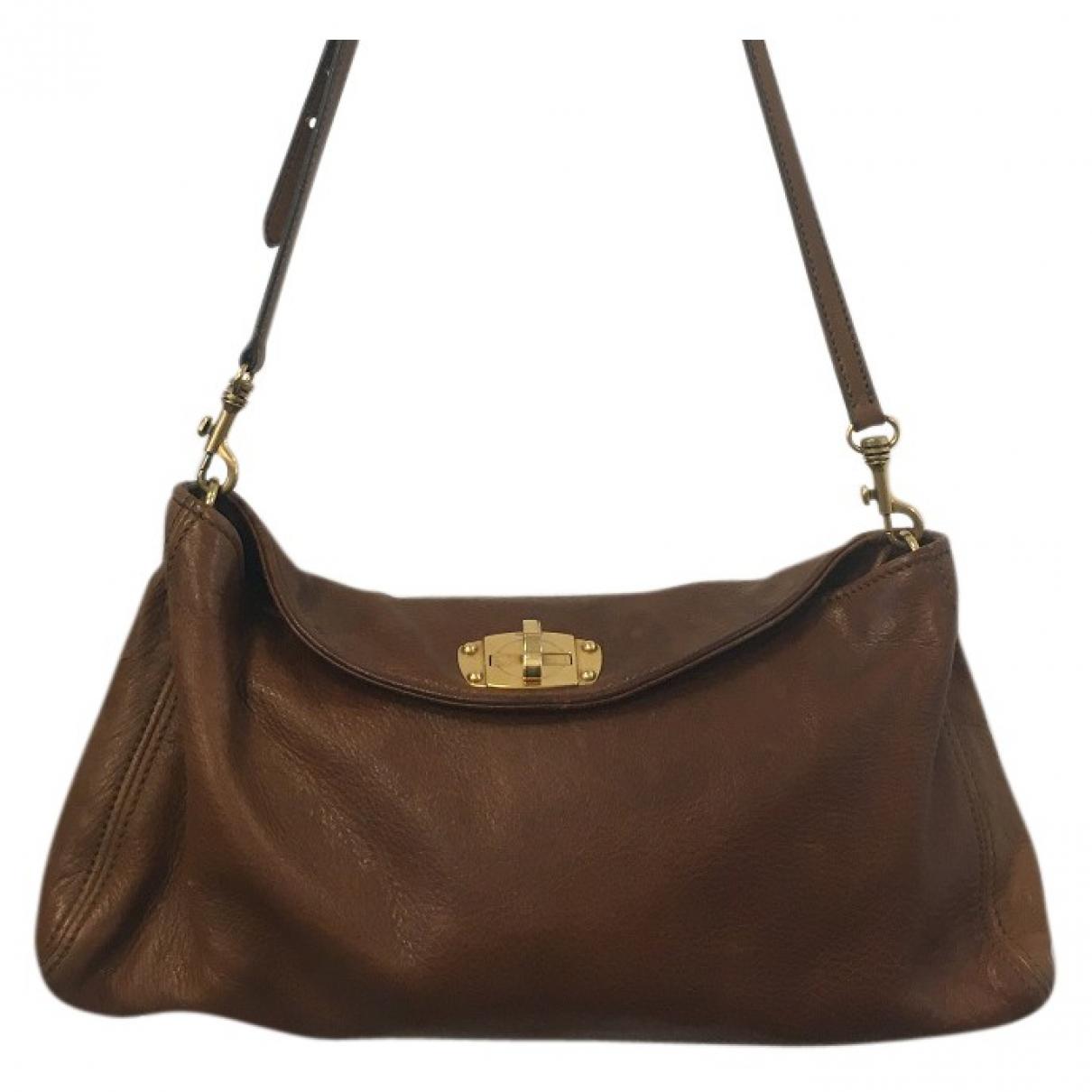 Miu Miu \N Brown Leather handbag for Women \N