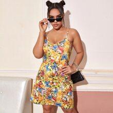 Plus Butterfly Print Cami Dress