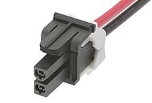 Molex Mini-Fit Jr 45135 Series Number Wire to Board Cable Assembly 2 Row, 2 Way 2 Row 2 Way, 1m
